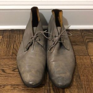 Hermes Gray Lace Up Shoes, Size 42 1/2